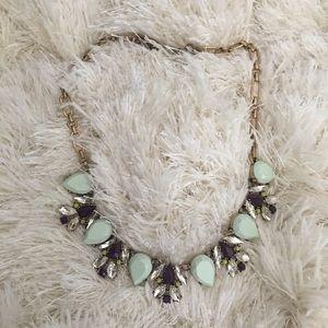 J.Crew Mint Crystal Necklace